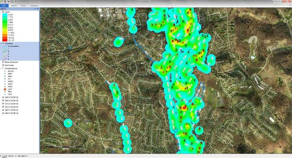 WinCan Analyst Heat Map using GIS integration
